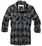 BRANDIT Check Shirt Black-Grey 3XL