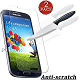 [Pack of 2] SamSung S4 Screen Protector, Supone Premium 9H Tempered Glass Screen Protector for Samsung Galaxy S4 I9505 I337 I545 M919 I9500 L720, Anti-scratch Oleophobic ,Anti Shatter ,0.26mm Ultra Slim
