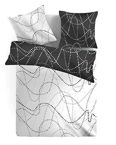Dreamhome24 Wende Design Hochwertige Microfaser Bettwäsche Bettbezug Sterne 135×200 80×80