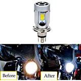SUPAREE H4/HS1 Ampoules Phare à Moto, 20W 2000LM Moteur LED ampoules à Phare H4 High / Low Beam COB Moped Scooter Moto Lampe frontale (1 pièce )