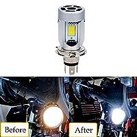 LED Faros de Motocicleta H4 20W 2000LM COB LED bombilla para Moto Lampara H4 Luces led