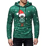 ☺Kapuzenpullover Herren Sweatshirt Hoodies Slim Fit T-Shirt mit Kapuzen Weihnachten Sweatjacke Top Bluse Trainingsanzüge Sport Training Basic Pullover Langarmshirt Premium Casual Männer Sweater