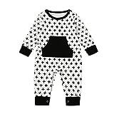 LCLrute New Mode Lovely Neugeborene Kleinkind-Baby-Jungen-Mädchen-Querdruck-Spielanzug-Overall-Ausstattungs-Kleidung (100)