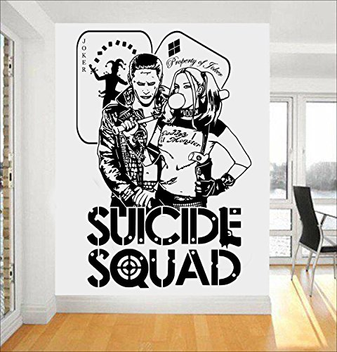 DC Comics Suicide Squad Task Force X Art Wand sticker/aufkleber (Harley Quinn Aufkleber)