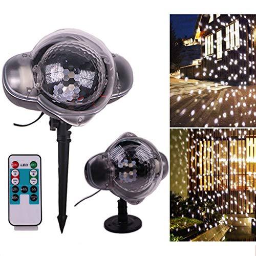 Schneiender LED-Projektor, wasserdichte helle Weihnachtslichter im Freien Scheinwerfer-Schnee-bewegliche Garten-Landschaftslampen-Dekoration