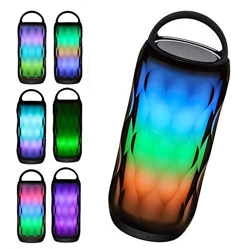 Ai LIFE Kabelloser Bluetooth-Lautsprecher mit Touch Control Nachttischlampe Tragbare Smart LED Touch Sensor Tischleuchte Dimmbares RGB MP3-Player Freisprechen Mehrfarbenwechselndes Nachtlicht -