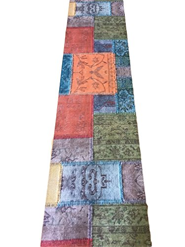 Alfombra de Cocina, se vende por Metro (ancho de 52 cm), de retales, estilo Indio Klimt, étnico, estampado Digital y Moderno