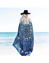 WDBS Serviettes de plage carrées / toiles de mur / serviettes de voyage