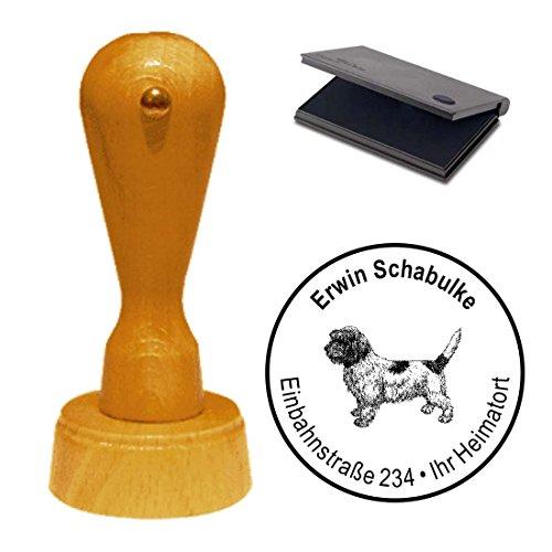 Stempel mit Kissen « PETIT BASSET GRIFFON VENDÉEN » Hund Haustier -