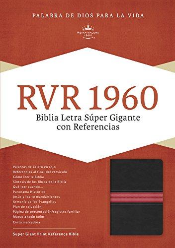 Rvr 1960 Biblia Letra Super Gigante, Negro Piel Fabricada Edicion Con Indice y Cierre (1960 Biblia Rvr)