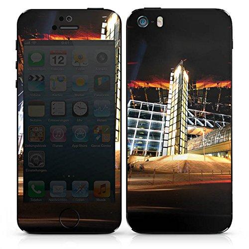 Apple iPhone 4s Case Skin Sticker aus Vinyl-Folie Aufkleber Hauptbahnhof in Berlin Nacht Lichter DesignSkins® glänzend