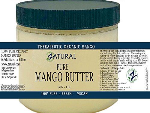 NakedOil Reines Bio Mango Butter-2 Größen verfügbar-Lebensmittelqualität & kosmetische Grade, Bio, rein, sauber, nackt, (16 Unze) (Mango-butter Seife)