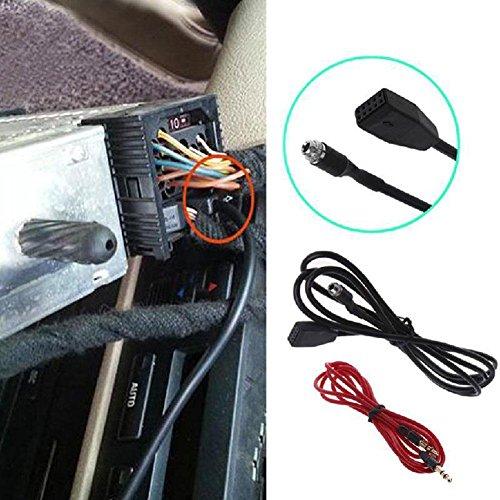 Rungao 10pin Bouquet adaptateur interface MP3 Musique câble audio pour voiture aux 3,5 mm pour BMW E53 E39 X 5 E46