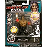 WWE Wrestling Build N' Brawl Series 3 Mini 4 Inch Action Figure Umaga (With Cage Wall) by Jakks Pacific