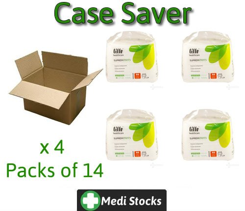 Incontinence Case Server - Lille Healthcare Suprem Pants Extra Large Extra x 4. 56 Incontinent Nappies by LILLE Healthcare