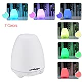 Whole House Humidifiers Best Deals - oneAlps Essential Oil Aroma Diffuser, 100ml Ultrasonic Aromatherapy Diffuser Humidifier with 7 Color Changing Led Lights, Cool Mist Humidifier for Home, Yoga, Office, Spa, Bedroom, Baby Room