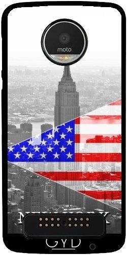 Hülle für Lenovo (Motorola) Moto Z Play - Empire State Building Flagge by Paslier (Reich Handy-fällen)