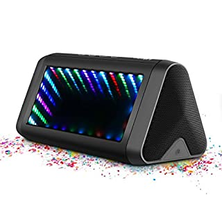 Bluetooth Lautsprecher, ELEGIANT 20W Wireless 4.0 Lautsprecher LED Stereo Boombox Kabellos Boxen tragbarer wasserdichter mit 3D LED Beleuchtung 10 Stunden Spielzeit für Indoor Outdoor
