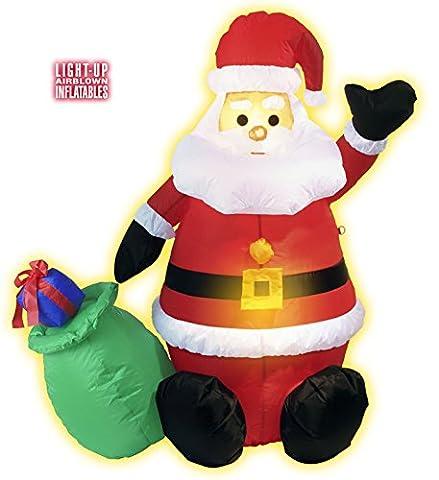 122cm großer aufblasbarer Weihnachtsmann Nikolaus Innen Dekoration Figur