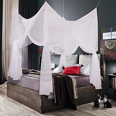 Truedays Four Corner Post Bed Princess Canopy Mosquito Net Full