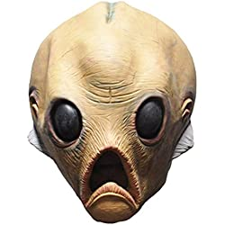 Queenshiny látex máscara realista Partido de Cosplay de Halloween Disfraz (Alien-2)