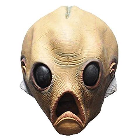 Queenshiny® latex réaliste masque de tête (Alien-2)