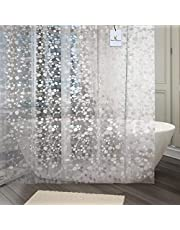 Kuber Industriestm 0.20Mm Pvc Shower Transparent Curtain In Coin 3D Design (Width-54 Inches X Height-84 Inches) 7 Feet (C0825)