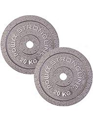 Disque d'haltères - Poids d'haltères en fer de 2,5 kg à 40 kg / 30 mm