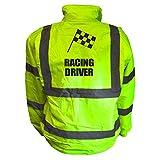 Kids Fun RACING DRIVER Hi Viz Vis Bomber Jacket Childs Reflective Waistcoat Coat Safe...