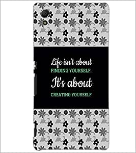 PrintDhaba Quote D-4668 Back Case Cover for SONY XPERIA Z4 (Multi-Coloured)