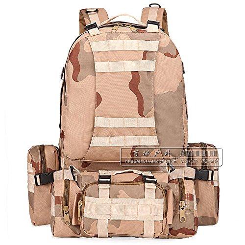 Per Combinazione O Fan, Tattiche Borsa 60L Outdoor Di Grandi Capacità Mimetica Alpinismo Borsa,La Giungla Sansha camouflage