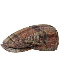 Stetson Belfast Check Coppola a Quadri Berretto Piatto Cappello Cappellino  in Lana 66256d25810e