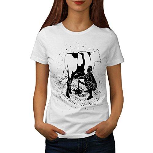 Platz Kuh Milch Fantasie Damen S-2XL T-shirt | Wellcoda White