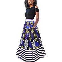 top fashion 0dca0 063bd Amazon.it: vestito nero con gonna a righe