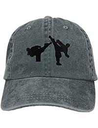 26d72f5fbfdfe Taekwondo Martial Arts -7 Gorra de Vaquero Hip-Hop Sombrero Trasero Gorra  Ajustable