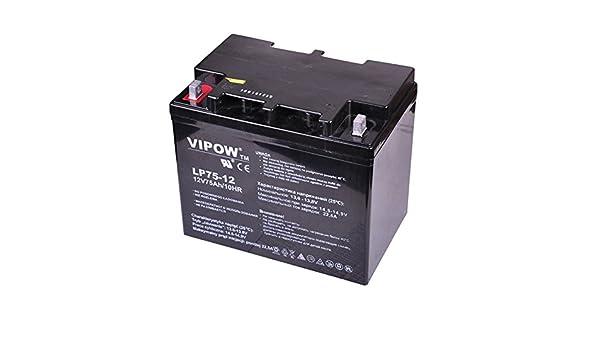VIPOW Batterie de Voiture 6-fm-12/Batterie de rechange batterie Gel 12/V 75/Ah