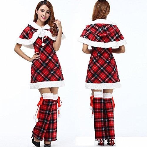 Weiblich Kostüm Weihnachten - Weihnachten Kostüme Weibliche Weihnachten Kostüme Ältere Foto Einheitliche Cos Bar Bühne Kostüme,Rot,Einheitsgröße