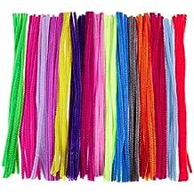 OUNONA 150pcs Jumbo chenilla tallos aula limpiapipas para manualidades bricolaje / boda / fiesta / decoración de vacaciones