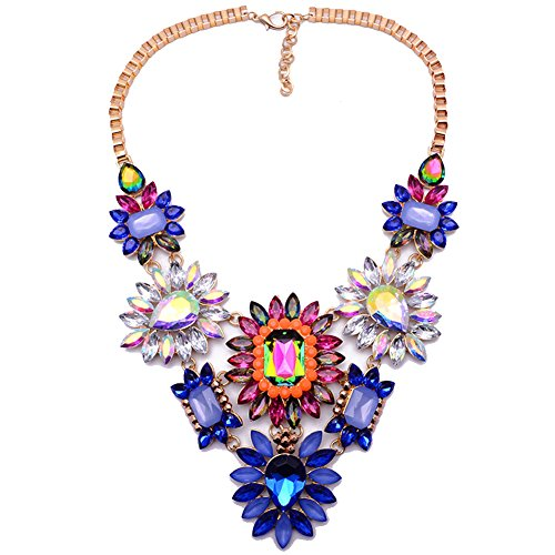 twopages-hawaii-colorful-floral-crystal-bib-statement-choker-collar-beach-necklace-jewelry-gift-for-