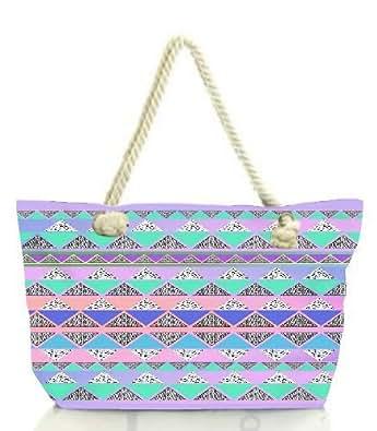 Snoogg Pyramid Aztec Women Anchor Messenger Handbag Shoulder Bag Lady Tote Beach Bags Blue