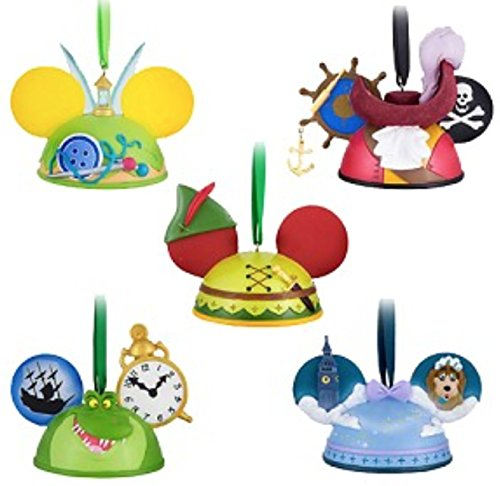 Disney Parks Peter Pan Ear Hat Ornament Set