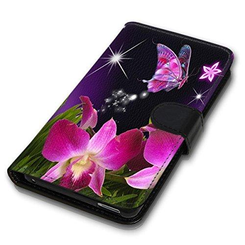 Wallet Book Style Flip Handy Tasche Case Schutz Hülle Schale Motiv Etui für Apple iPhone 5 / 5S - Variante UMV10 Design12 Design 12