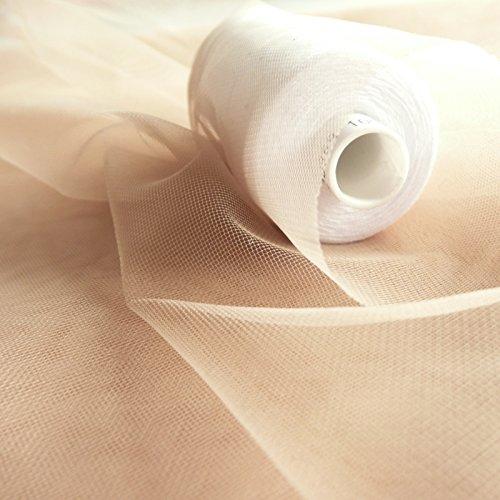 Super Fine Soft Nude Haut Flesh Farbige Illusion Tüll Stoff 150cm breit-sehr fein...