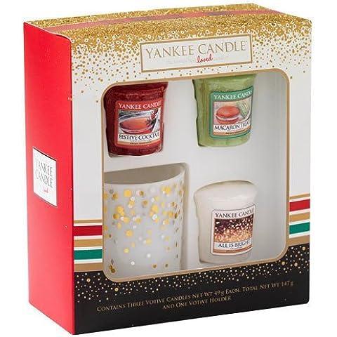 Yankee Candle 3velas y 1portavelas vacaciones partido Set de regalo