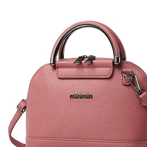 Ms. Einfache Handtasche Schultertasche PU-Leder Umhängetasche Schale pink