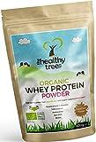 [REBAJA] Proteína de Suero Orgánico en Polvo: Sabor a CocoChoc (600g) - Alto contenido de aminoácidos y BCAAs con 15g de cucharón gratis - Whey proteína orgánica pura de vacas alimentadas con pasto de TheHealthyTree Company