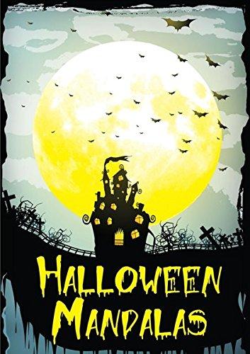 Erwachsenen Malbuch - Halloween Mandalas - Ausgabe 1 -