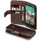 HTC One M8 Hülle, Terrapin Echt Leder Brieftasche Case Tasche mit Kartenfächer und Bargeld für HTC One M8 Braun