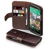 HTC One M8 Hülle, Terrapin Echt Leder Brieftasche Case