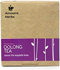 Amaara Herbs | Organic Oolong Tea | 50g | Organic Whole Leaf Tea | Makes 20 Cups | Specialty Tea